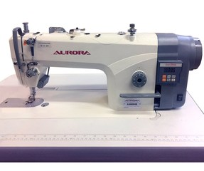 AURORA A-8600HB Lockstitch machine for sewing medium and heavy materials with enlarged hook