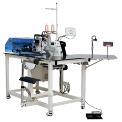 Aurora AAS-02 sewing automatic sewing machine for manufacturing flaps for polo T-shirts