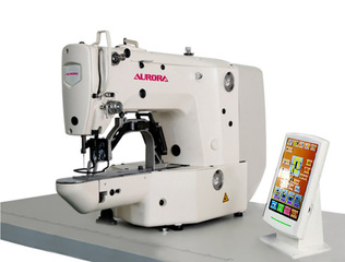 AURORA A-1906 Electronic bartacking machine with 60x40 mm sewing field