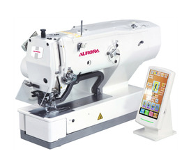 "AURORA A-1790D Electronic buttonhole machine with ""multi-knife"" function"