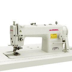 AURORA A-5200 Lockstitch machine with a knife for trimming the edges of the material