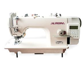 AURORA A-5200-D3 Lockstitch machine with a knife for trimming the edges of the material