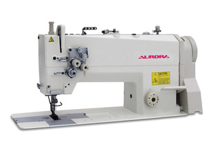 AURORA A-872 double-needle machine with needle feed and enlarged hook, for heavy materials