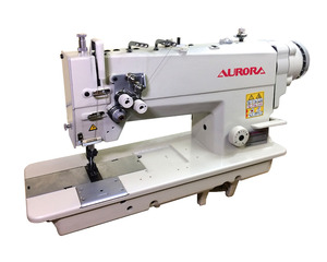 AURORA A-842D-05 Double-needle machine for heavy materials with direct drive