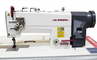 AURORA A-872D-05 Double-needle direct drive sewing machine with enlarged hook for heavy materials