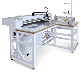 AAS-0302-D3 - Automatic sewing machine for sewing zipper along the contour